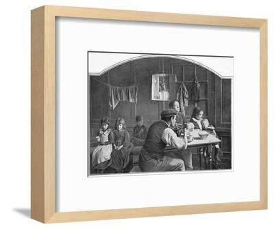 Old room in Slumland, London, c1900 (1901)-Unknown-Framed Photographic Print