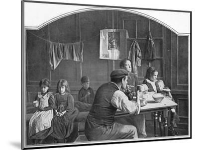 Old room in Slumland, London, c1900 (1901)-Unknown-Mounted Photographic Print