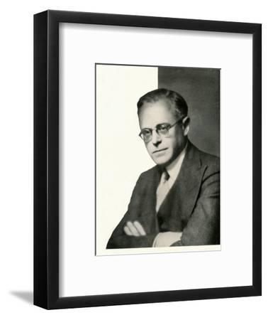 Interviewed in camera: Film Producer Basil Dean-Unknown-Framed Photographic Print