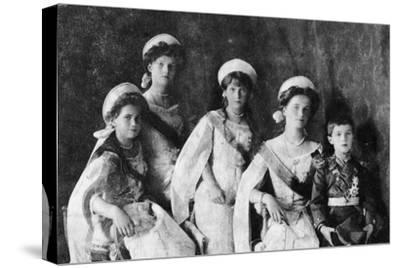 Children of Tsar Nicholas II of Russia, c1910-Unknown-Stretched Canvas Print