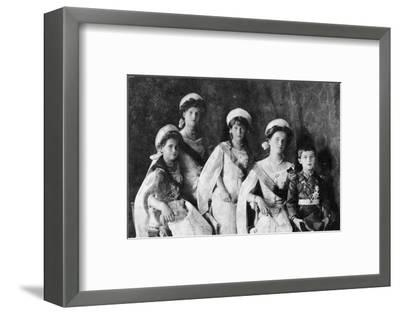 Children of Tsar Nicholas II of Russia, c1910-Unknown-Framed Photographic Print