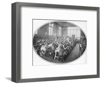 A Ragged School Union dinner, Camberwell, London, c1901 (1901)-Unknown-Framed Photographic Print
