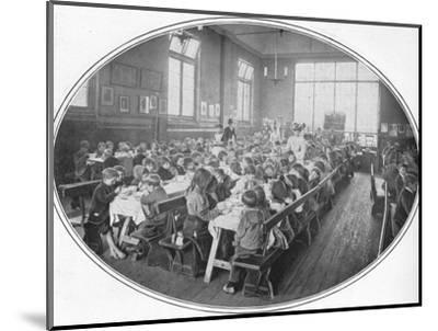 A Ragged School Union dinner, Camberwell, London, c1901 (1901)-Unknown-Mounted Photographic Print