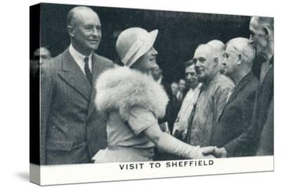 'Visit to Sheffield', 1934 (1937)-Unknown-Stretched Canvas Print