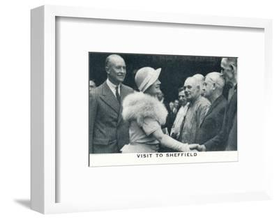 'Visit to Sheffield', 1934 (1937)-Unknown-Framed Photographic Print
