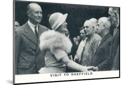 'Visit to Sheffield', 1934 (1937)-Unknown-Mounted Photographic Print