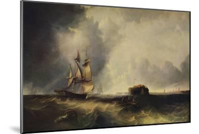 'A ship, and men in a rowing boat off Calais', c1830, (1938)-Unknown-Mounted Giclee Print