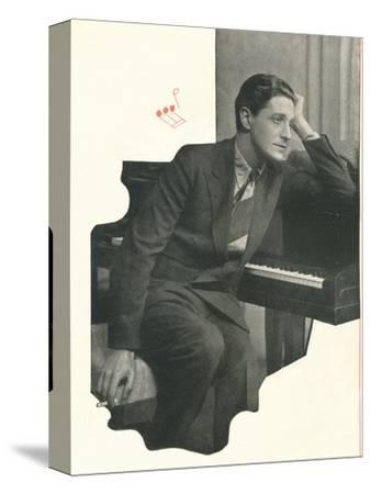 Ivor Novello confesses: It Takes Me A Long Time To Compose A Score-Unknown-Stretched Canvas Print