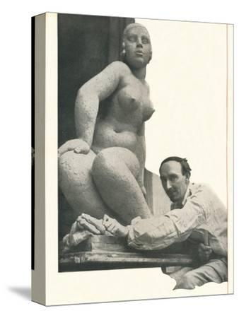 A cameo by Frank Dobson Booth's Has The Magic of Pygmalion-Unknown-Stretched Canvas Print