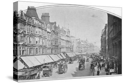 Oxford Street, London, c1900 (1901)-Unknown-Stretched Canvas Print