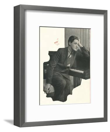 Ivor Novello confesses: It Takes Me A Long Time To Compose A Score-Unknown-Framed Photographic Print