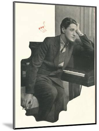 Ivor Novello confesses: It Takes Me A Long Time To Compose A Score-Unknown-Mounted Photographic Print