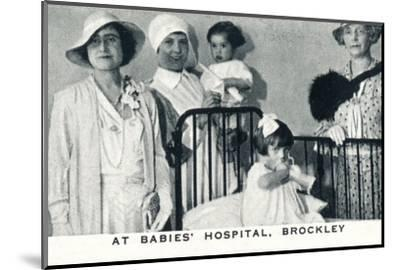 'At Babies' Hospital, Brockley', 1933 (1937)-Unknown-Mounted Photographic Print