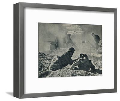 'On the Tripoli road', c1942 (1944)-Unknown-Framed Photographic Print