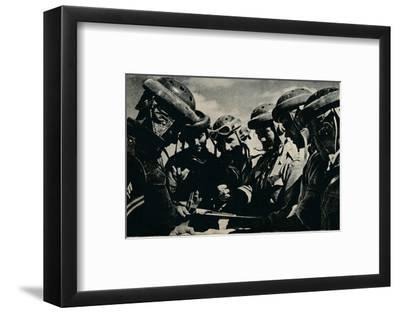 'Severe problems faced the tank crews', c1941 (1944)-Unknown-Framed Photographic Print