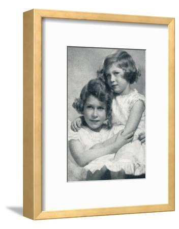 'The Royal Princesses', c1936 (1937)-Unknown-Framed Photographic Print