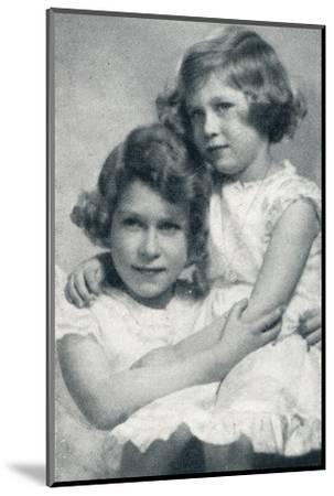 'The Royal Princesses', c1936 (1937)-Unknown-Mounted Photographic Print