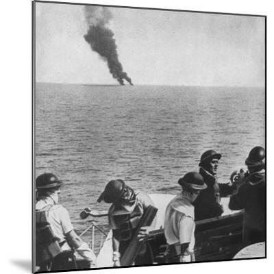 'The fight begins', 1943-Unknown-Mounted Photographic Print