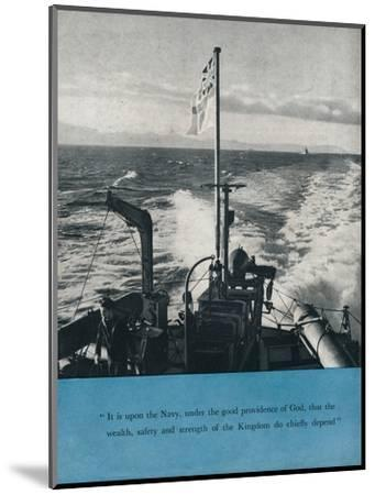 View from the stern of a British warship, c1940 (1943)-Unknown-Mounted Photographic Print