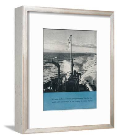 View from the stern of a British warship, c1940 (1943)-Unknown-Framed Photographic Print