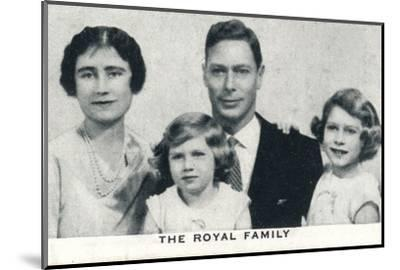 'The Royal Family', c1936 (1937)-Unknown-Mounted Photographic Print