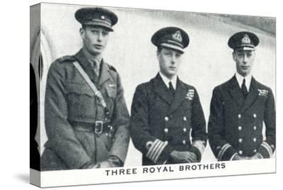 'Three Royal Brothers', 1920 (1937)-Unknown-Stretched Canvas Print