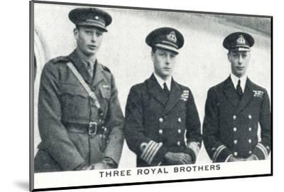 'Three Royal Brothers', 1920 (1937)-Unknown-Mounted Photographic Print