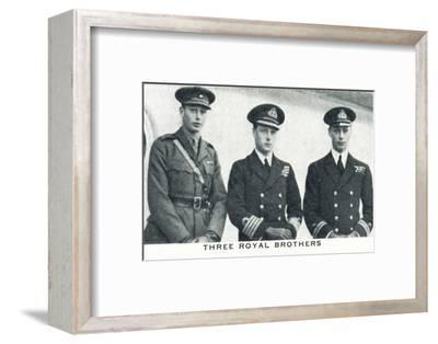 'Three Royal Brothers', 1920 (1937)-Unknown-Framed Photographic Print