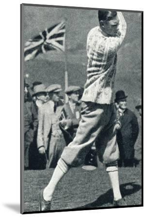 'A Game of Golf', 1924 (1937)-Unknown-Mounted Photographic Print