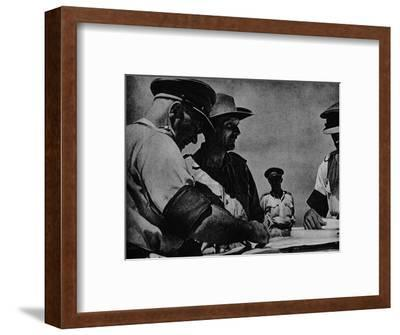 'The Plans Are Perfected', 1942 (1944)-Unknown-Framed Photographic Print