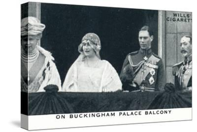 'On Buckingham Palace Balcony', 1923 (1937)-Unknown-Stretched Canvas Print