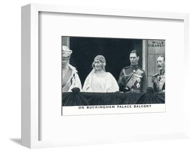 'On Buckingham Palace Balcony', 1923 (1937)-Unknown-Framed Photographic Print