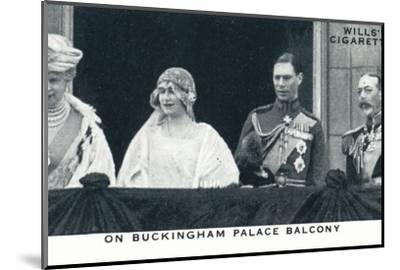 'On Buckingham Palace Balcony', 1923 (1937)-Unknown-Mounted Photographic Print