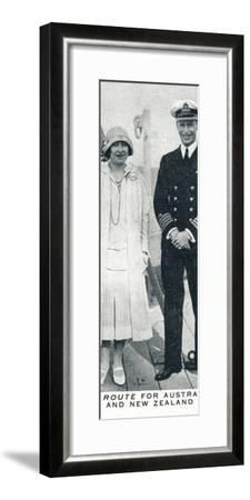 'En Route for Australia and New Zealand', 1927 (1937)-Unknown-Framed Photographic Print