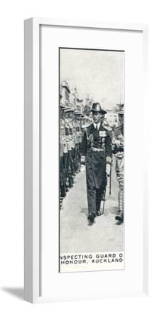 'Inspecting Guard of Honour, Auckland', 1927 (1937)-Unknown-Framed Photographic Print