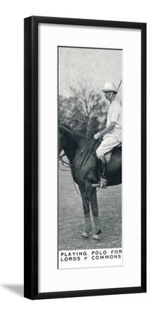 'Playng Polo for Lords v Commons', c1930 (1937)-Unknown-Framed Photographic Print