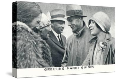 'Greeting Maori Guides', 1927 (1937)-Unknown-Stretched Canvas Print