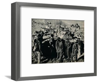 'The Meeting at El Duda. On 26 November the Tobruk garrison took El Duda', 1941-Unknown-Framed Photographic Print