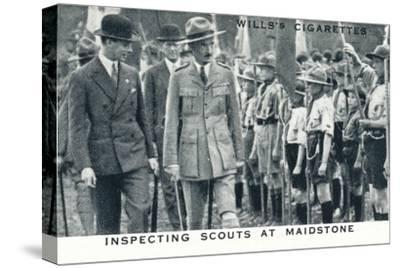'Inspecting Scouts at Maidstone', 1929 (1937)-Unknown-Stretched Canvas Print