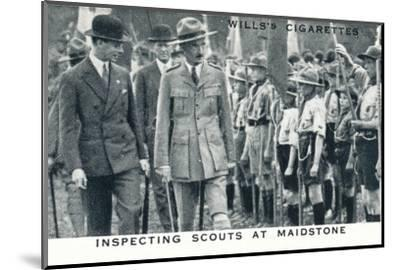 'Inspecting Scouts at Maidstone', 1929 (1937)-Unknown-Mounted Photographic Print