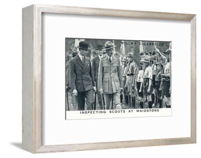 'Inspecting Scouts at Maidstone', 1929 (1937)-Unknown-Framed Photographic Print