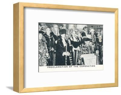 'Proclamation of the Coronation', 1936 (1937)-Unknown-Framed Photographic Print