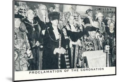 'Proclamation of the Coronation', 1936 (1937)-Unknown-Mounted Photographic Print