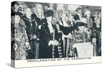 'Proclamation of the Coronation', 1936 (1937)-Unknown-Stretched Canvas Print