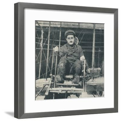 The winner of the £10,000 prize for the flight from London to Manchester, 1910 (c1937)-Unknown-Framed Photographic Print