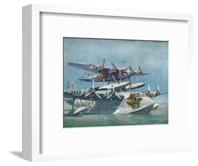The Short-Mayo Composite Aircraft, c1937 (c1937)-Unknown-Framed Giclee Print