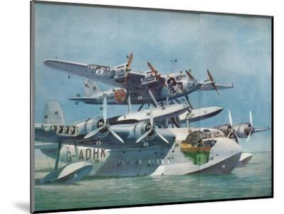 The Short-Mayo Composite Aircraft, c1937 (c1937)-Unknown-Mounted Giclee Print