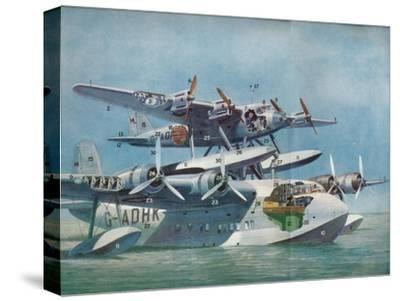 The Short-Mayo Composite Aircraft, c1937 (c1937)-Unknown-Stretched Canvas Print