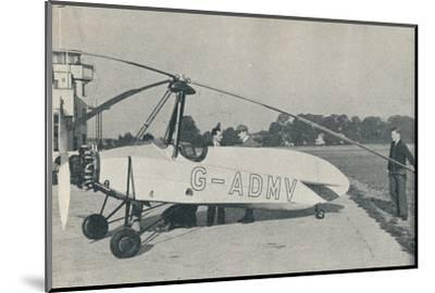 The Hafner Gyroplane, c1935 (c1937)-Unknown-Mounted Photographic Print