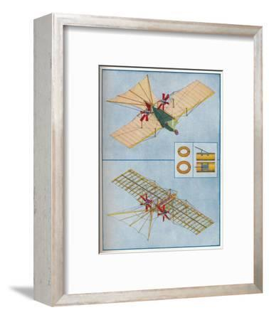 The aeroplane proposed by Henson in his patent of 1842, c1936 (c1937)-Unknown-Framed Giclee Print